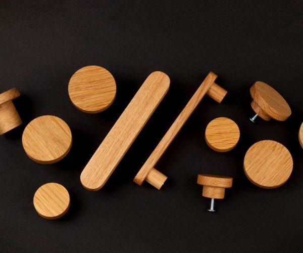 Drewniane gałki do mebli